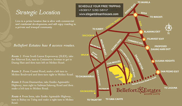 Bellefort Estates - Affordable Housing In Cavite Philippines - Location Map
